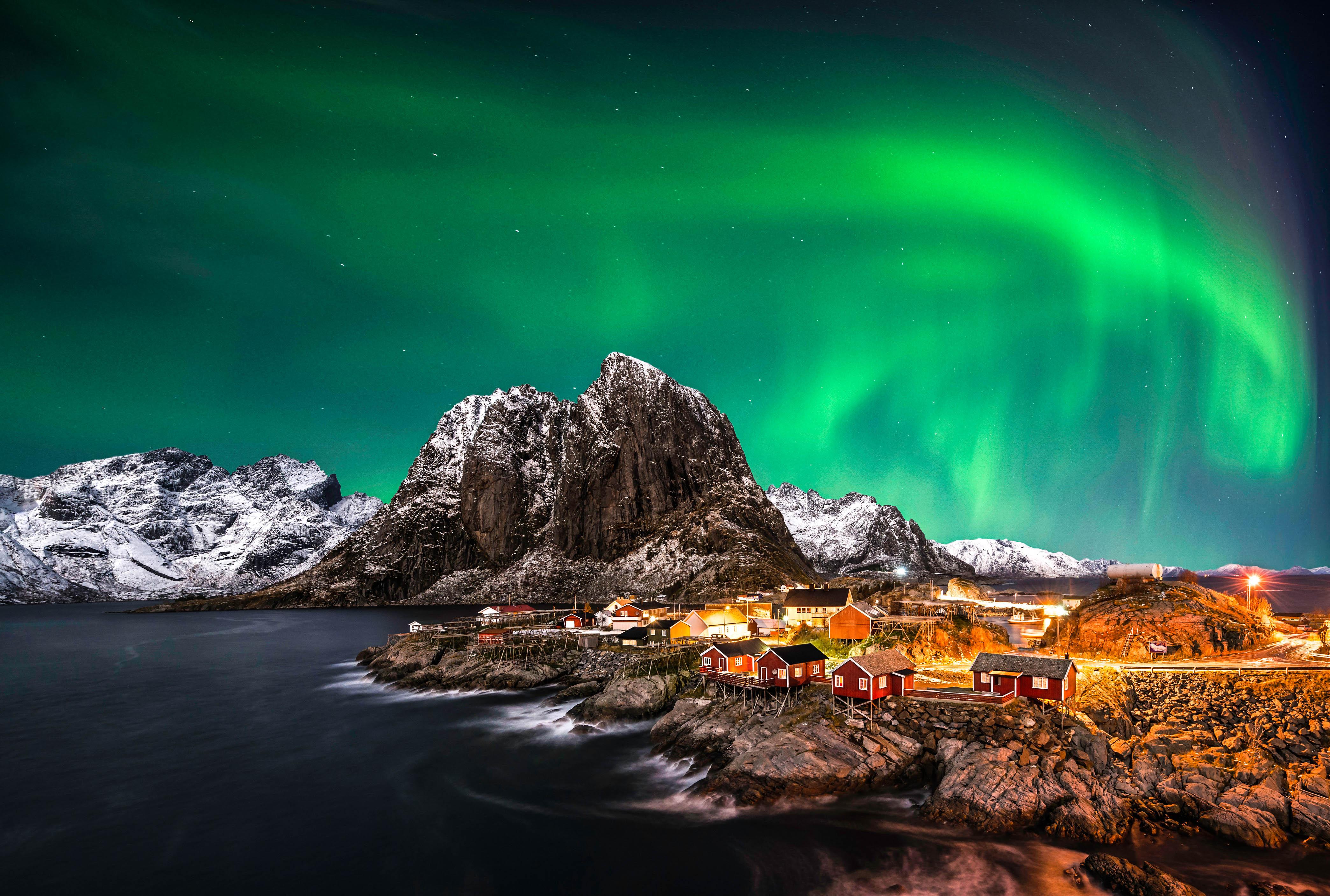 Aurora boreal en suiza