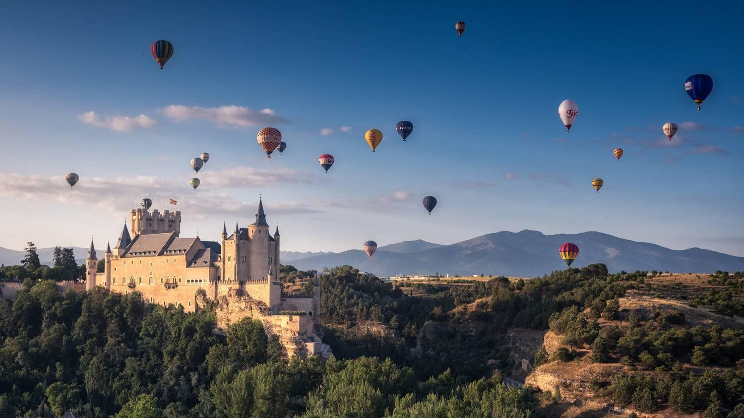 Vuelo en globo aerostático sobre Segovia