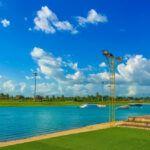 Wakeboard En El Complejo De Deportes Acuáticos De Camsur, Filipinas