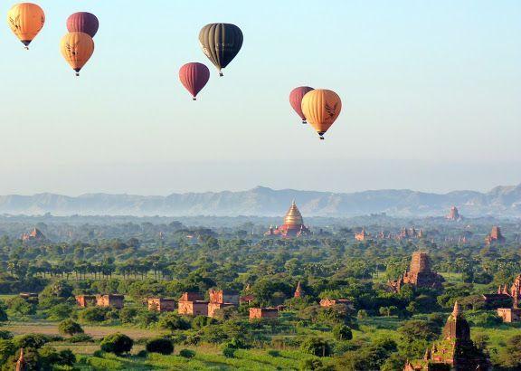 Globo aerostático de Bagan